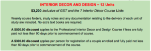 interior design course perth